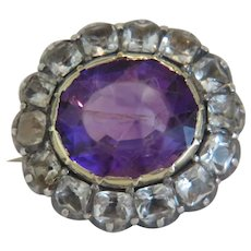 Georgian Amethyst and Rock Crystal brooch, ca. 1800