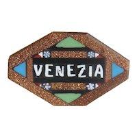 Antique Venetian Micro Mosaic brooch, 19th century