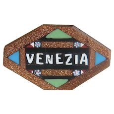 Antique Venetian Micro Mosaic brooch, 19th century