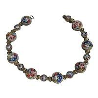 Antique Italian Micro Mosaic link bracelet, 19th century