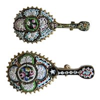 Antique Micro Mosaic scatter brooches, 19th century