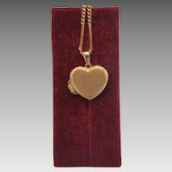 Vintage heart shaped locket, 14k yellow gold, ca. 1970