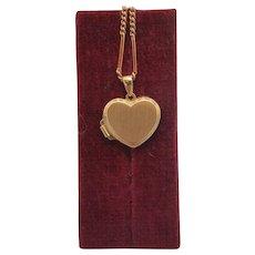 Vintage heart shaped locket, 14k yellow gold, ca. 1970