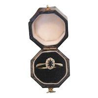 Sapphire and Diamond ring, 14k yellow gold, ca.1960