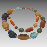 Vintage  necklace with   semi precious stone beads,ca.1950
