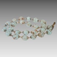 Vintage Murano glass bead necklace, ca.1950
