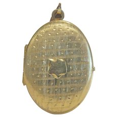 Victorian gilt silver locket, 19th century