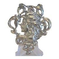 Art Nouveau silver brooch, England ca.1900