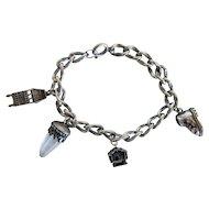 Antique silver charm bracelet,19th century