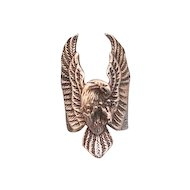 Vintage silver ring in the shape of an eagle, dated at about 1960