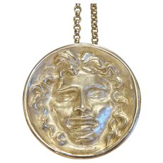Vintage silver pendant designed by Prof. Ernst Fuchs (1930-2015), ca. 1974