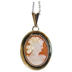 Antique shell Cameo set in silver, ca. 1900