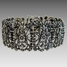 Victorian silver bracelet, silver 800, 19th century