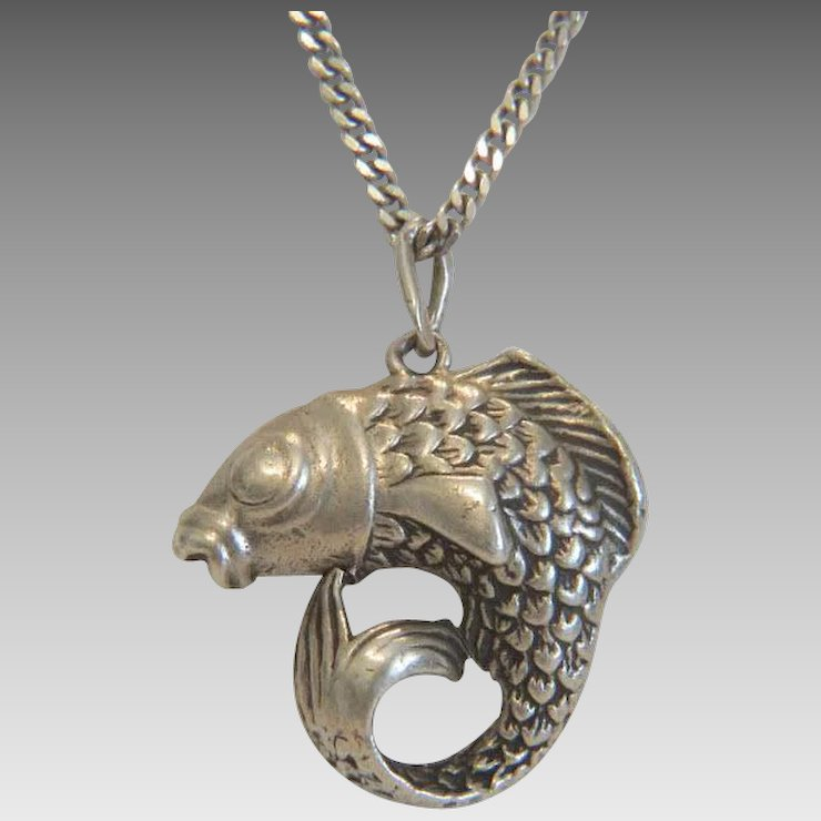 Antique silver fish pendant hallmarked 83519th century akaham antique silver fish pendant hallmarked 83519th century aloadofball Image collections