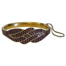 Vintage Garnet bracelet, 9k yellow gold, ca. 1920