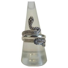 Art Nouveau silver snake ring, silver 925, ca. 1900