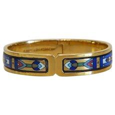 Vintage Michaela Frey enamel bracelet, 24k yellow gold plated