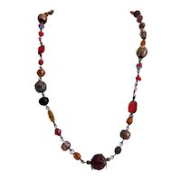 Antique Murano glass bead necklace, 19th century