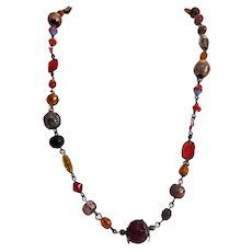 Antique Murano glass bead necklace, 19th century