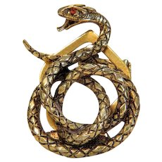Vintage snake brooch signed Art,20th century