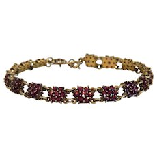 Antique Garnet bracelet,gilt silver, 19th century