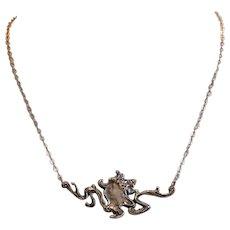 Antique Art Nouveau silver necklace, ca. 1910
