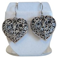 Vintage silver earrings, early 20th century