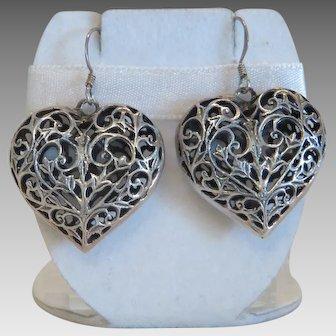 Vintage silver earrings, early 20th century