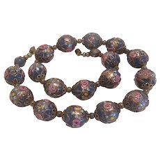 Vintage Murano wedding cake bead necklace, ca. 1930