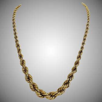 Vintage yellow gold necklace, ca. 1930