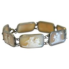 Georgian shell Cameo bracelet, silver 800, late 18th century