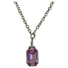 Antique Amethyst necklace, silver 800, ca. 1900