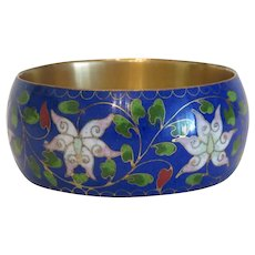 Cloissone colorful flower bangle, ca. 1940