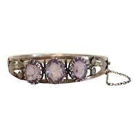 Antique Amethyst bracelet, silver 800, 19th century