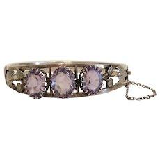 Antique Amethyst bracelet, silver 800, 19th century