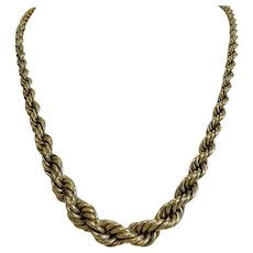 Vintage 14k yellow gold necklace, ca. 1930