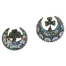 Antique Micro Mosaic scatter brooch, 19th century