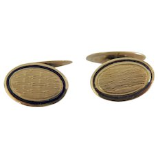 Vintage 14 k yellow gold cuff links ,early 20th century