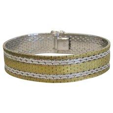 Vintage gilt silver bracelet, silver 835,ca.1950