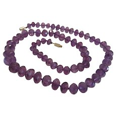 Vintage Amethyst bead necklace, ca. 1950
