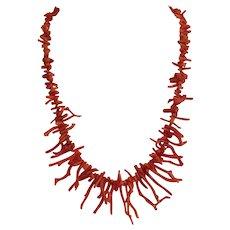 Vintage natural Coral necklace, ca. 1930