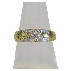 Vintage Diamond ring, 14k yellow gold, ca. 1960