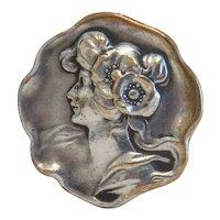 Art Nouveau brooch, silver800, ca. 1900