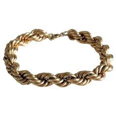 Vintage rope bracelet, 14k yellow gold, ca. 1950