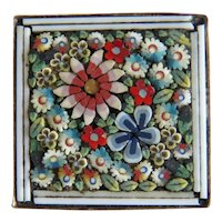 Antique Italian Micro Mosaic brooch, ca. 1900