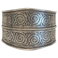 Antique Silver Cuff bracelet, early 20th century