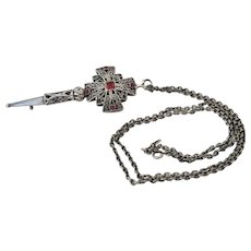 Antique silver pendant /brooch, 19th century