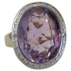 Antique Amethyst ring, 9k yellow gold, ca. 1900