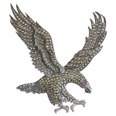 Art Deco Eagle brooch ,silver, ca. 1930