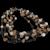 Vintage 5 strands gem stone necklace, ca. 1960